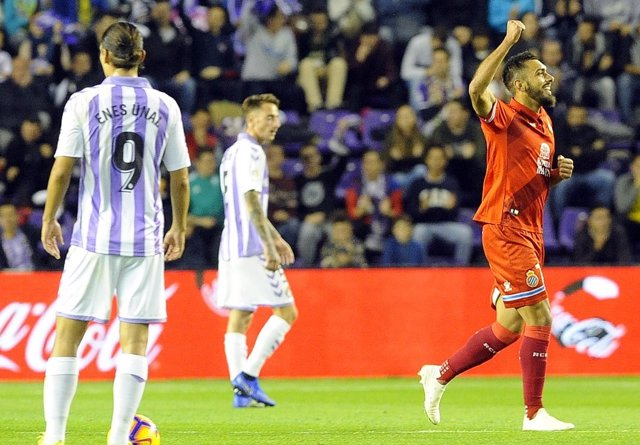 Borja Iglesias celebra un gol con el Espanyol