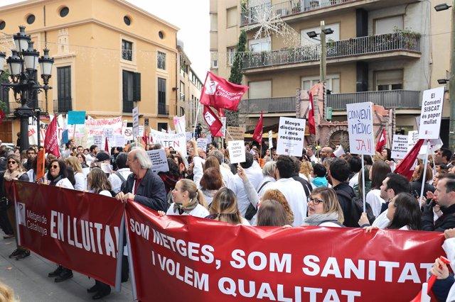 Huelga de médicos de la concertada de Catalunya