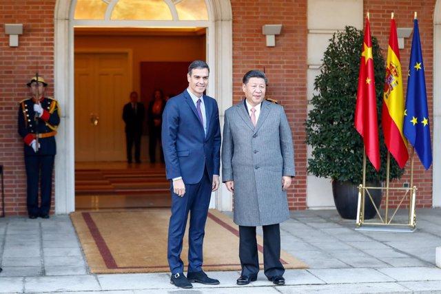 POLITICAL: Spanish President recibes to China President