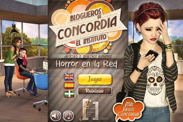 Presentación el 4 de diciembre del videojuego por la concordia en la red