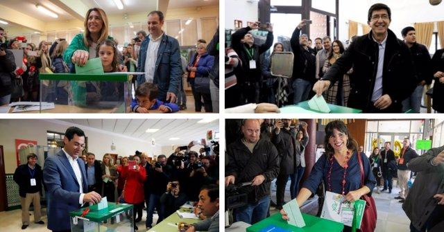 Los candidatos de la presidencia de Andalucía ya han votado
