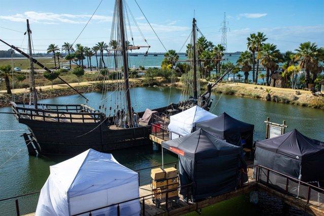El Muelle de las Carabelas, en Huelva, escenario de 'La peste'