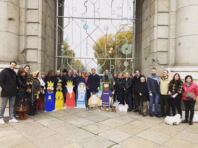 Belén del PP en la Puerta de Alcalá