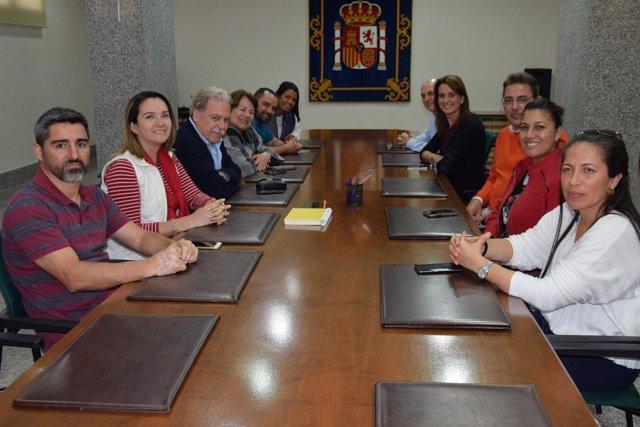 Visita de una delegación de Costa Rica para conocer el CETI de Melilla