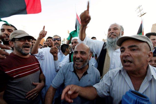 Manifestación en Trípoli