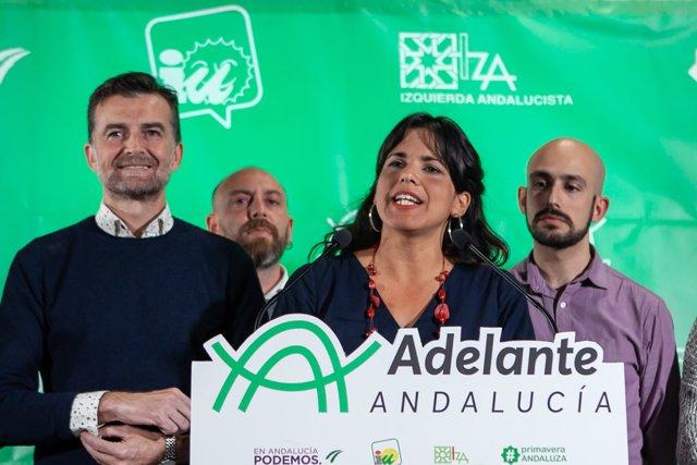 Foto de Antonio Maíllo y Teresa Rodríguez