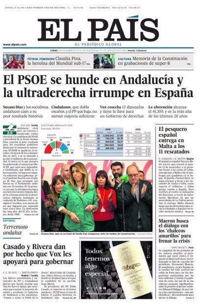 Las portadas de los periódicos del lunes 3 de diciembre del 2018