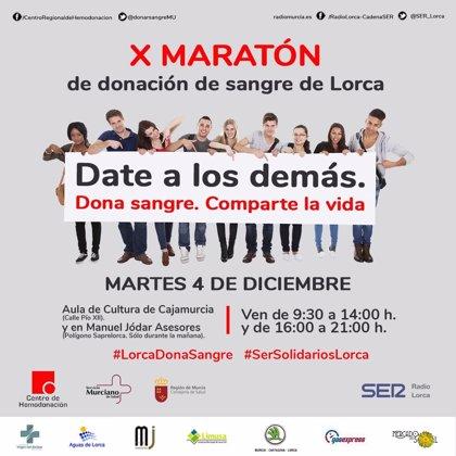 'Date a los demás, dona sangre, comparte la vida', lema de la nueva campaña del Centro Regional de Hemodonación
