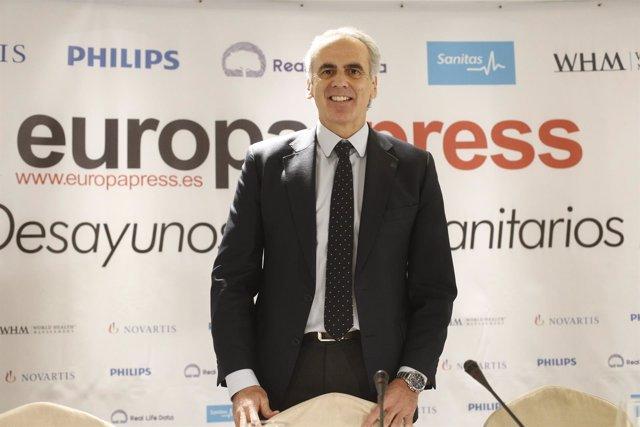 El Consejero de Sanidad de la Comunidad de Madrid, Enrique Ruiz Escudero, protag