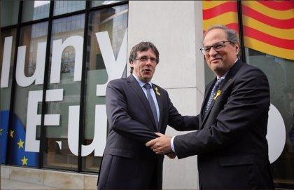Torra, Puigdemont, JxCat, ERC y la CUP abordan en Bélgica una estrategia conjunta