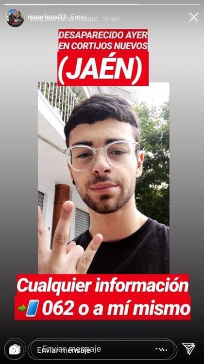 Más de 200 personas buscan a un joven desaparecido en Cortijos Nuevos (Jaén)