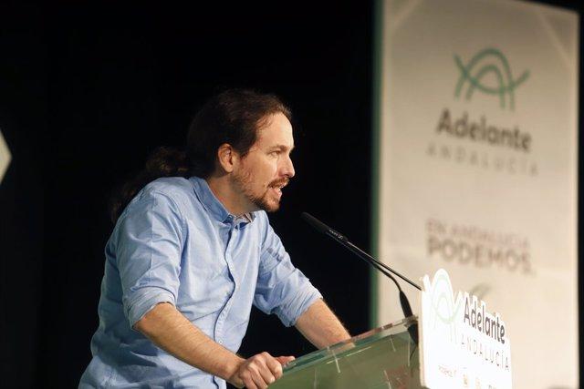 En Torremolinos (Málaga), mitin de cierre de campaña de los candidatos de Adelan