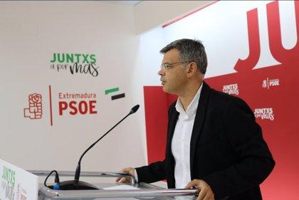 El PSOE extremeño recuerda al PP su petición de que gobierne la lista más votada, que en Andalucía ha sido el PSOE