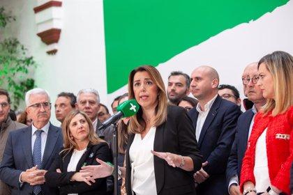 """Susana Díaz descarta dejar de liderar el PSOE-A y pide el apoyo de Cs: """"Lo normal es que el tercero apoye al primero"""""""