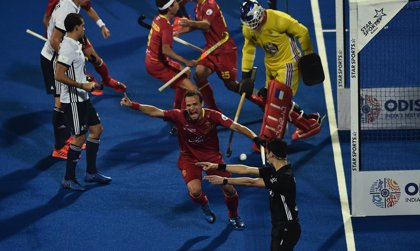España empata con Francia en el Mundial de hockey hierba