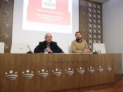 El Área de Desarrollo Sostenible de Diputación de Badajoz contará para 2019 con un presupuesto de 13 millones de euros