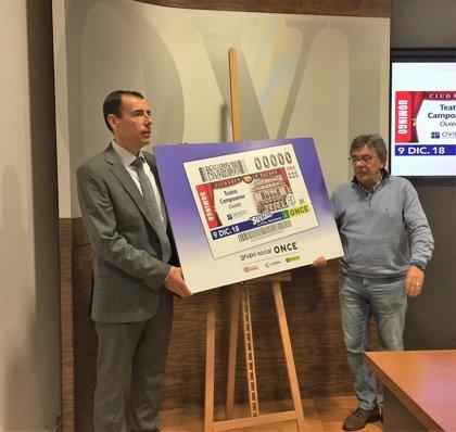 ONCE difundirá la imagen del Teatro Campoamor de Oviedo en el cupón para el sorteo de este domingo