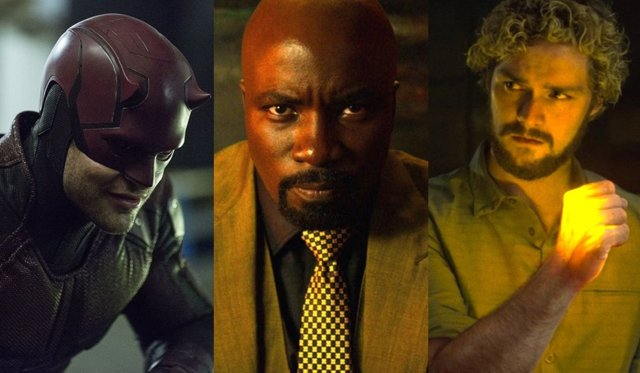 Daredevil, Luke Cage y Iron Fist de Netflix