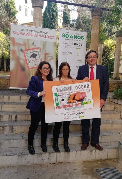 La ONCE dedica su cupón del 22 de diciembre a la Sobrasada de Mallorca