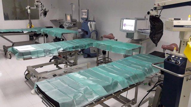 El quirófano del Hospital de Nouadhibou, en Mauritania