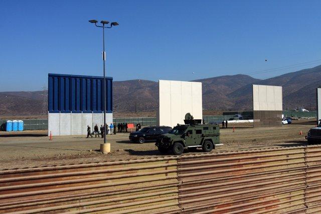 Prototipos del muro de Trump
