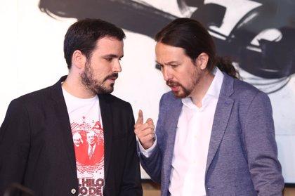 Iglesias y Garzón representarán a Unidos Podemos en el Día de la Constitución con los Reyes