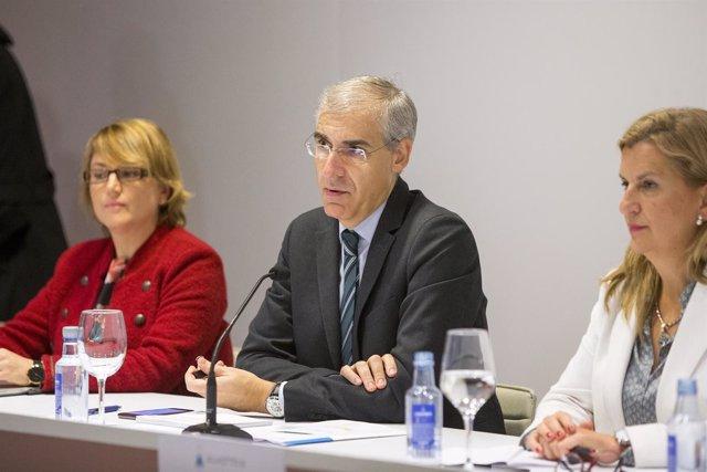 El conselleiro de Economía en la presentación en Galicia de alastria