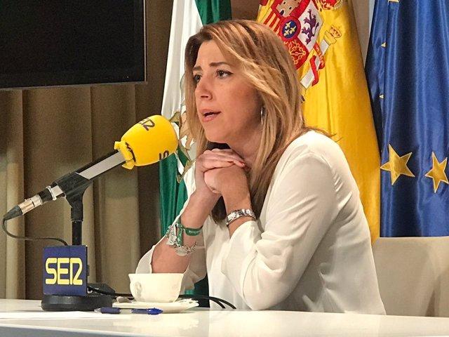 Susana Díaz, en una entrevista a la cadena SER