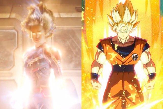 Goku y Capitana Marvel
