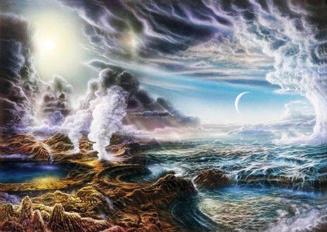 La Tierra en el momento en que apareció la vida