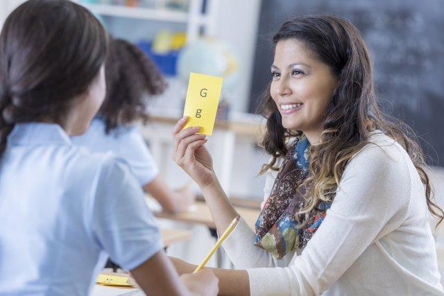 Dislexia, clase, profesora, alumna
