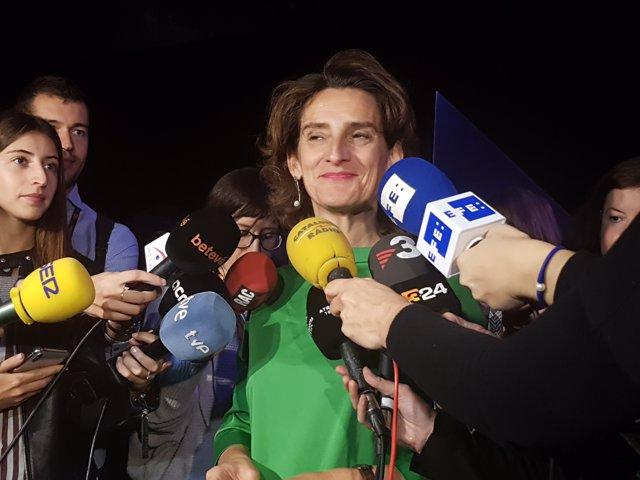 La ministra para la Transición Energética, Teresa Ribera