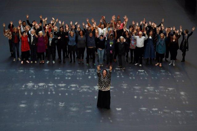 Performance de Tania Bruguera en Londres
