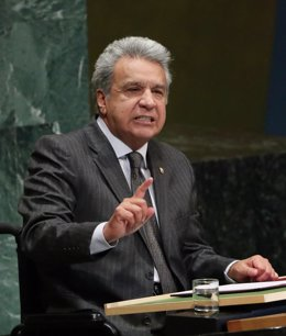 Ecuador's President Lenin Moreno Garces addresses the 73rd session of the United