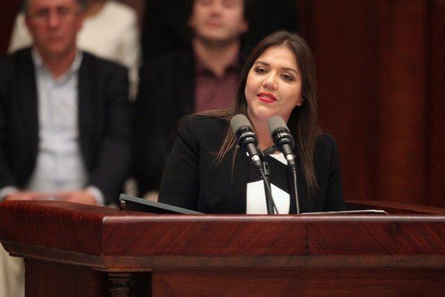 La vicepresidenta de Ecuador, María Alejandra Vicuña