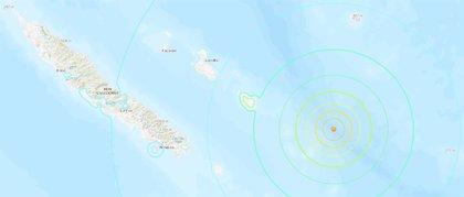 Un terremoto de magnitud 7,6 en la costa este de Nueva Caledonia provoca una alerta de tsunami