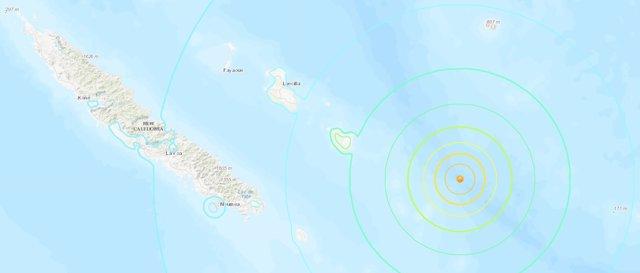 Registrat un terratrèmol de magnitud 7,6 a la costa est de Nova Caledònia