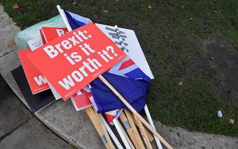 Manifestación contra el Brexit en Londres