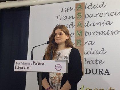 Jara Romero, nueva secretaria primera de la Mesa de la Asamblea de Extremadura en sustitución de Eugenio Romero
