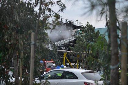 Aparatoso incendio en Ence Pontevedra sin daños personales