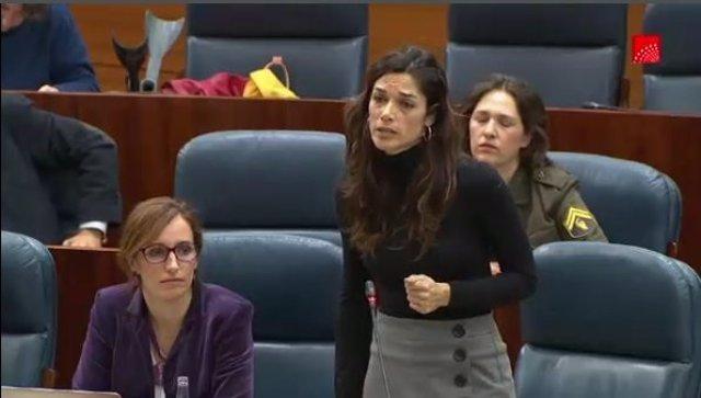 La portavoz de Podemos en la Asamblea de Madrid, Clara Serra