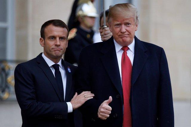Macron y Trump en El Elíseo