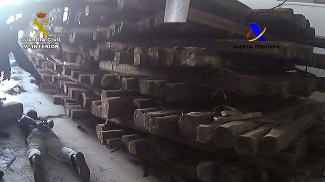 Operación fraternity troncos de madera cargados de cocaína Belgica España euroju