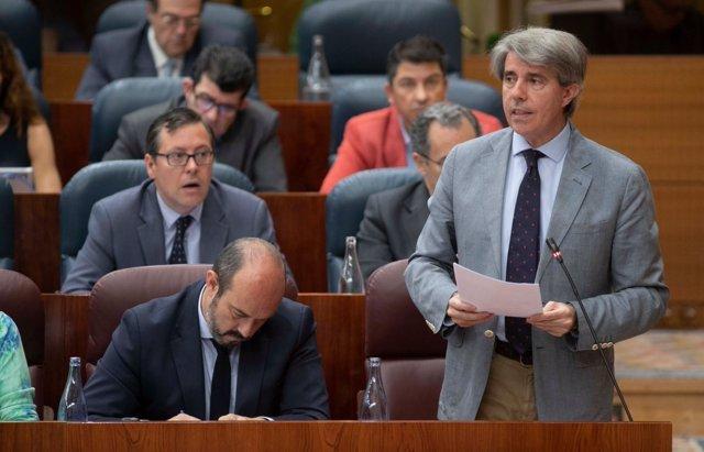 El presidente de la Comunidad de Madrid, Ángel Garrido, en la Asamblea