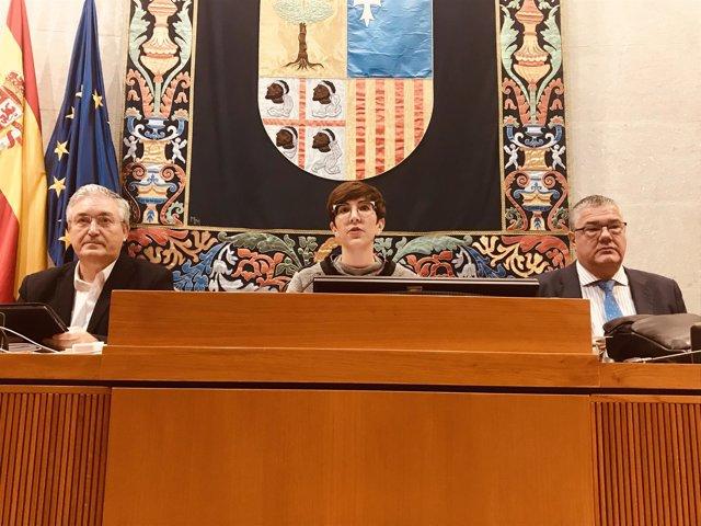 Mesa de las Cortes de Aragón