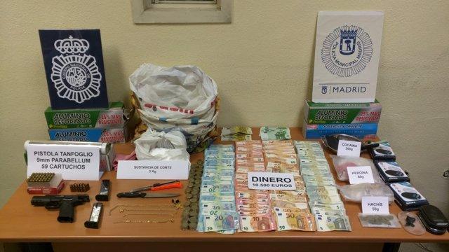 La Policía Nacional detiene a 20 personas al desmantelar seis narcopisos