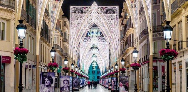 Calle Larios de Málaga en Navidad.