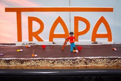 Una tarta de chocolate de 25 metros en homenaje a la discapacidad