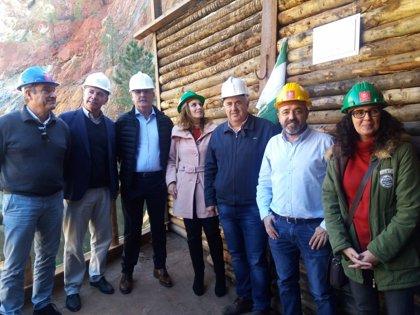Reabren la galería minera de Peña del Hierro afectada por el incendio de Nerva el pasado verano