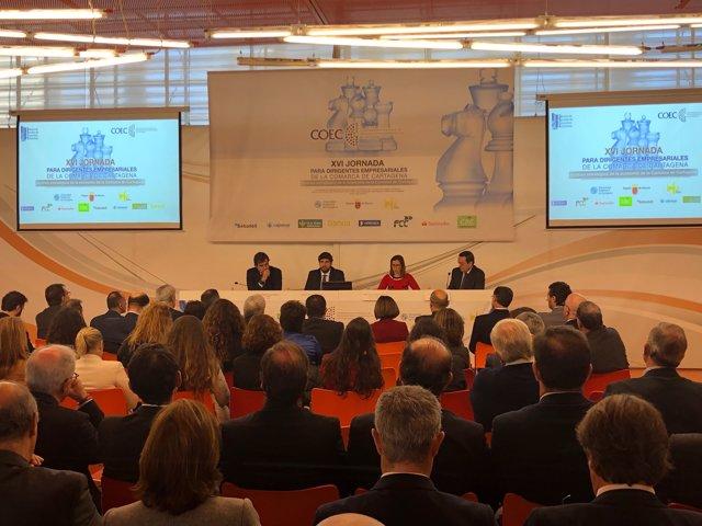 López Miras inaugura en Cartagena la XVI Jornada para Dirigentes Empresariales